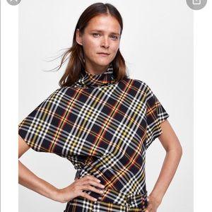 Zara NWT plaid top